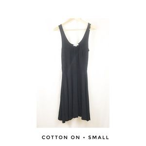 Cotton On Small Black Casual Dress Solid Comfy